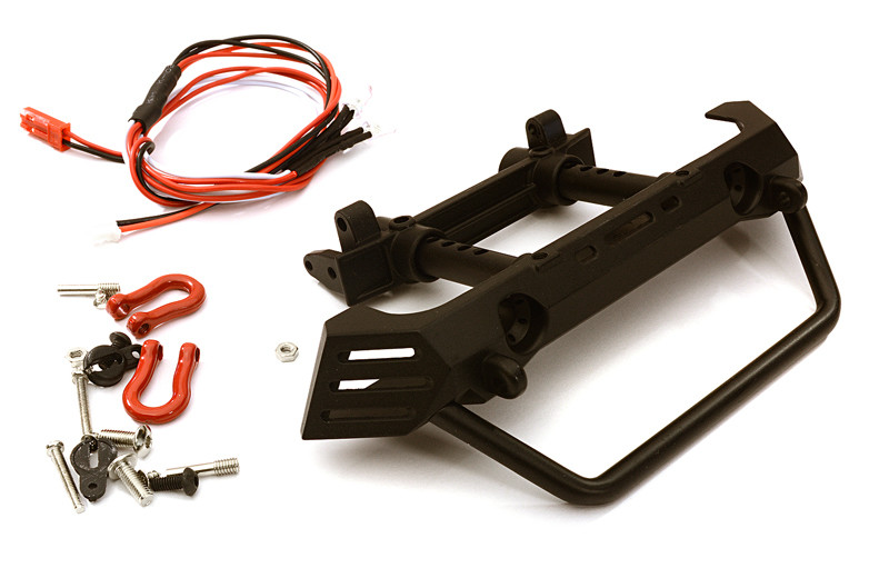 Integy Realistic Front Metal Bumper w/ 40mm Mount for Axial SCX10 II & Traxxas TRX-4 OBM-019