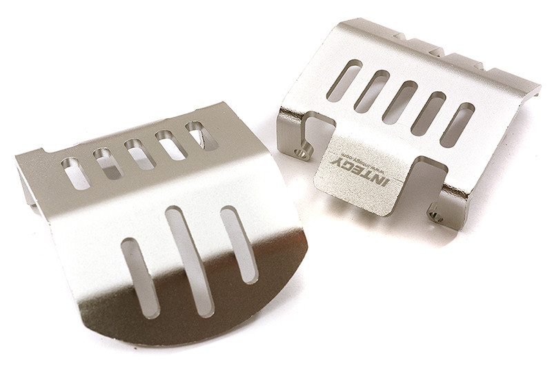 Integy Alloy Front & Rear Differential Skid Plates for Traxxas TRX-4 Scale Crawler C28417SILVER