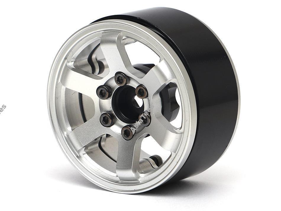 Boom Racing TE37LG KRAIT™ 1.9 Aluminum Beadlock Wheels w/ XT606 Hubs (4) Silver BRW780914S