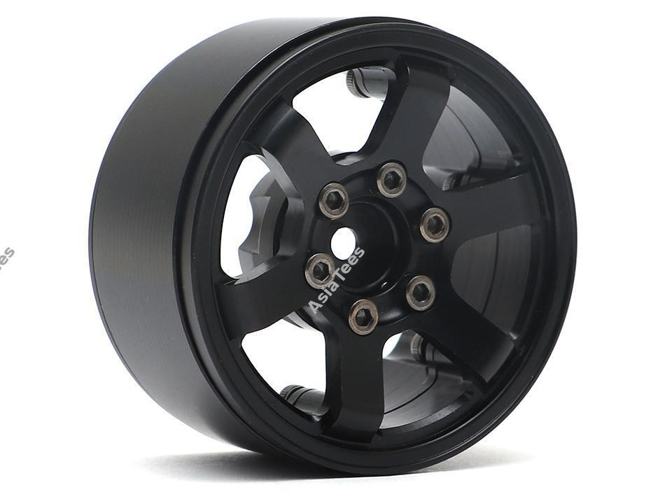 Boom Racing TE37LG KRAIT™ 1.9 Aluminum Beadlock Wheels w/ XT606 Hubs (4) Black BRW780914BK