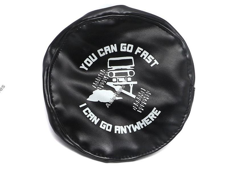 ATees Soft Faux Leather Tire Cover For 1.9 Crawler Tires - You Can Go Fast BRSCAC083D