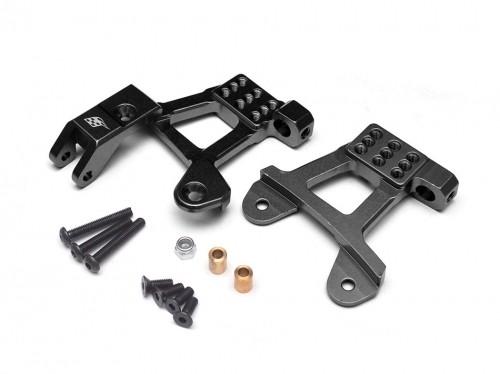 Boom Racing Aluminum Front Shock Hoops for SCX10 II - 1 Pair Black for Axial SCX10 II