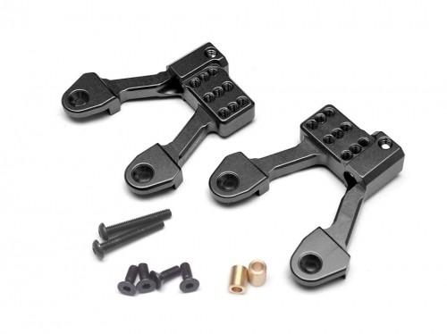 Boom Racing Aluminum Rear Shock Hoops for SCX10 II - 1 Pair Black for Axial SCX10 II BR955010RBK