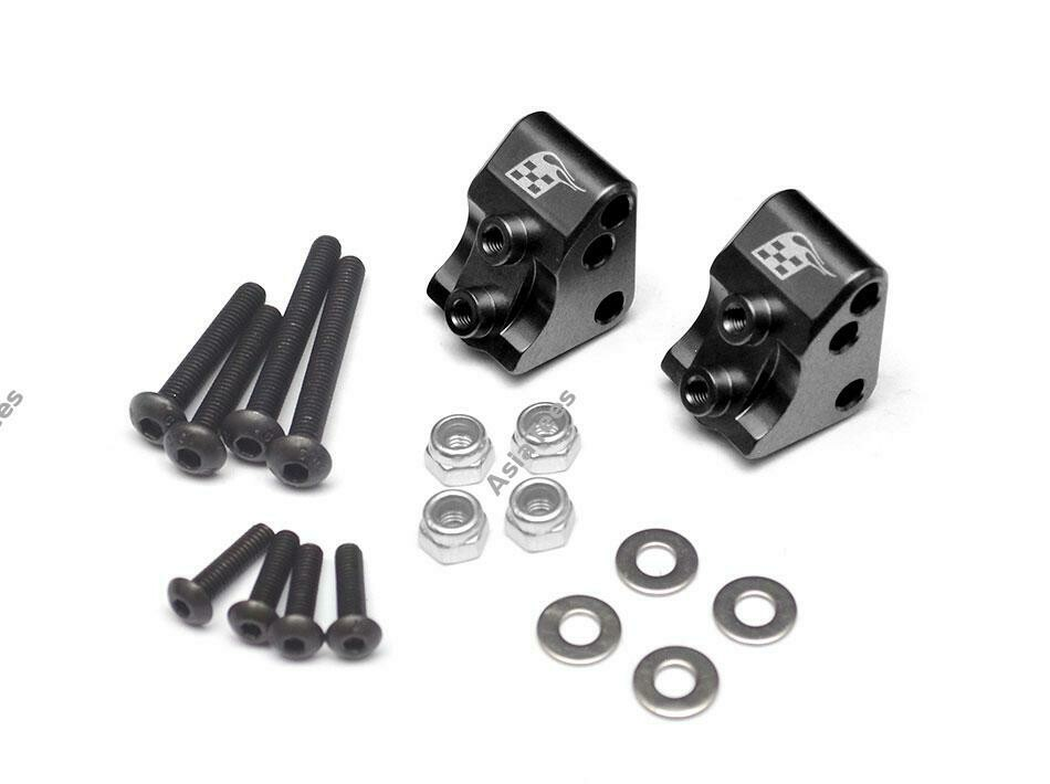 Boom Racing Aluminum AR44 Link Mounts for SCX10 II (2) Black for Axial SCX10 II BR955012BK