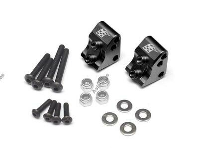 Boom Racing Aluminum AR44 Link Mounts for SCX10 II (2) Black for Axial SCX10 II BR955012BK
