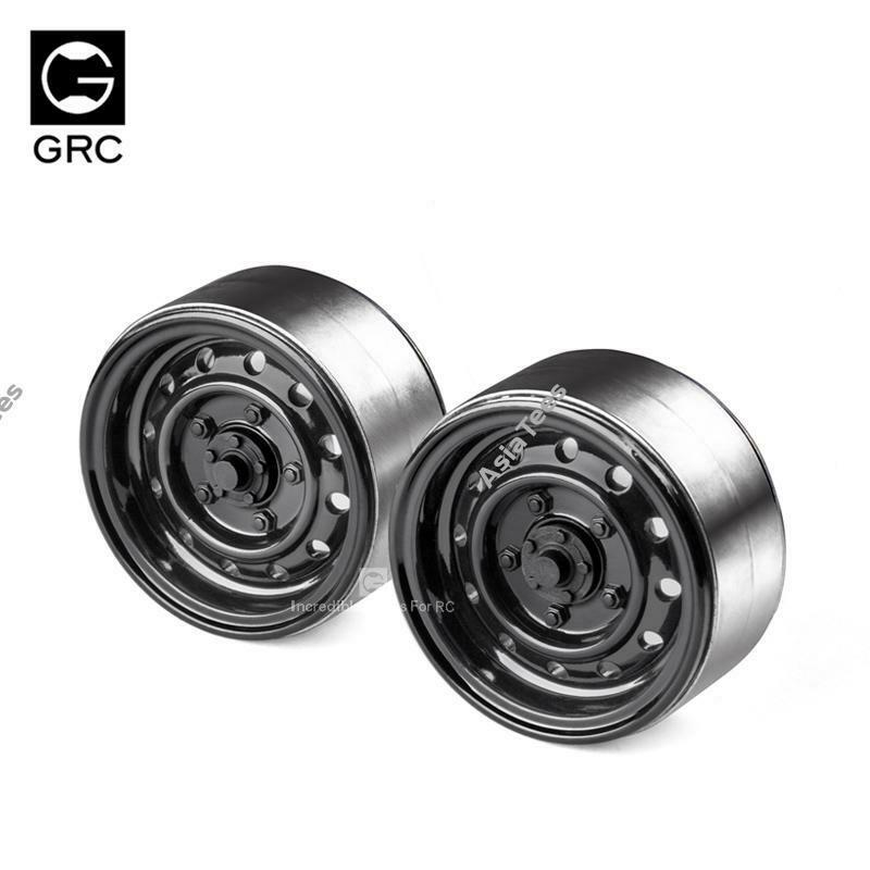 GRC 1.9 12-Hole Metal Classic Beadlock Wheel #Series III (2) Black GRC/GAX0130AB