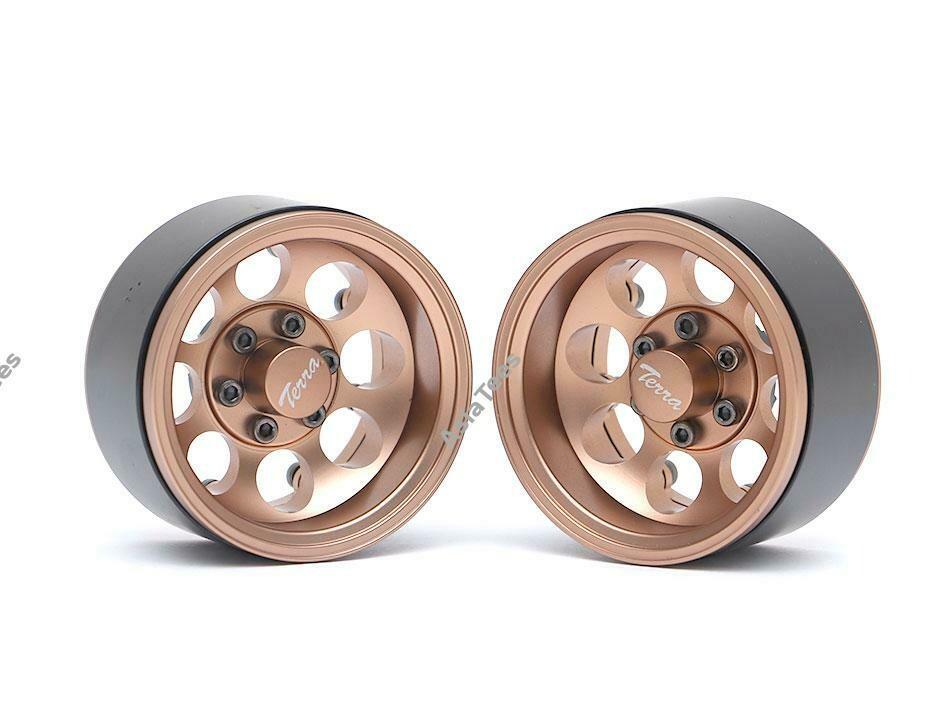 Boom Racing Terra 1.9 Classic 8-Hole Aluminum Deep Dish Beadlock Wheels w/ XT601 Hubs (2) Bronze BRW780917BZ