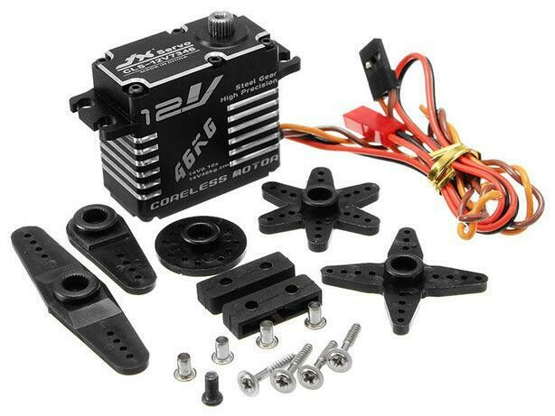 JX Servo Aluminum Case HV Coreless Digital Steel Gear Servo 46 kg / 0.10 Sec @ 14V CLS-12V7346