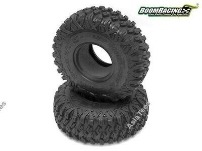 Boom Racing HUSTLER M/T Xtreme 1.9 MC2 Narrow Rock Crawling Tires 4.75x1.50 SNAIL SLIME™ Compound W/ 2-Stage Foams (Super Soft) BRTR19003-SS