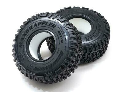 """Boom Racing 1.9"""" MAXGRAPPLER Scale RC Tire Gekko Compound 4.45""""x1.45"""" (113x37mm) Open Cell Foams (2) BRTR19398"""
