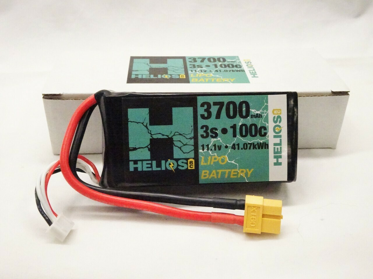 Helios RC 3S 3700 mAh 100c Shorty Lipo (XT60)