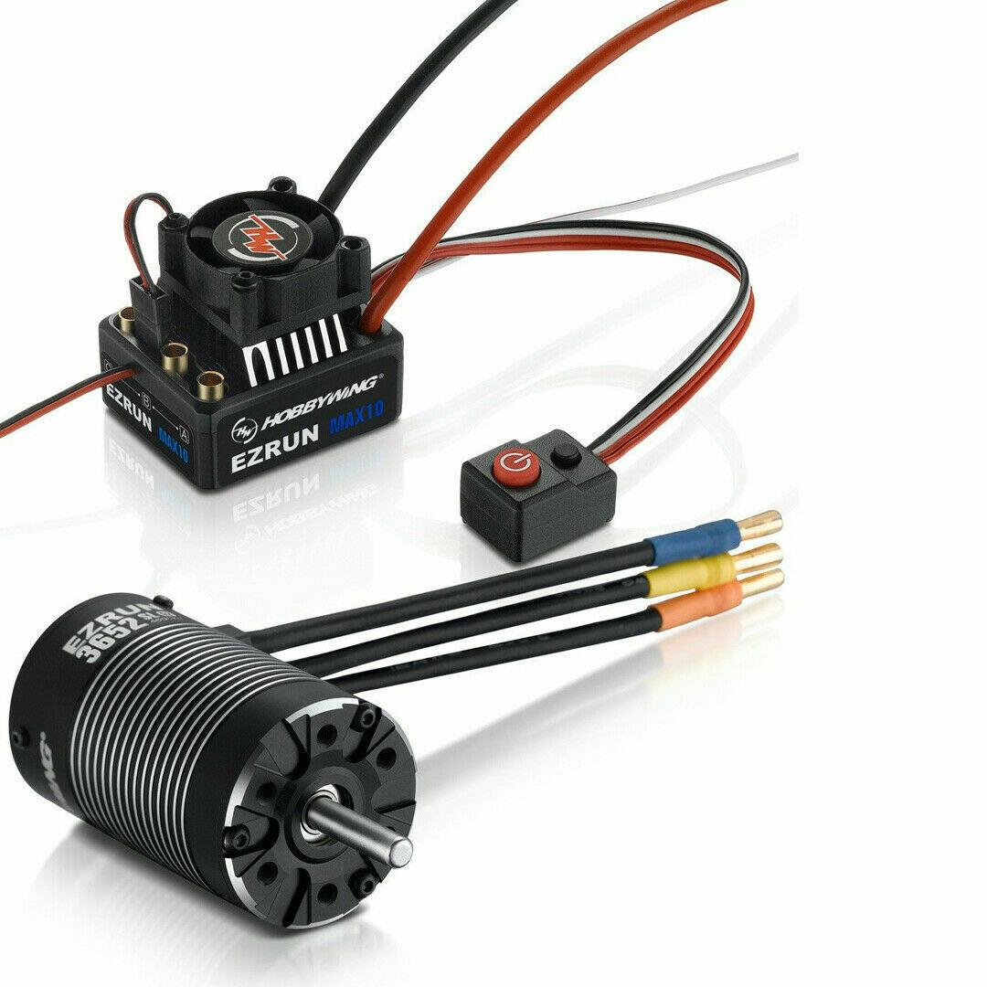 Hobbywing Ezrun MAX10 (2-3S) ESC + Ezrun 3652SL G2 Brushless Motor Combo (3300kv)