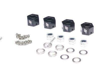 Boom Racing KRAIT™ Aluminum 12mm Wheel Hex Widener (4) (Offset: 3mm) - Black