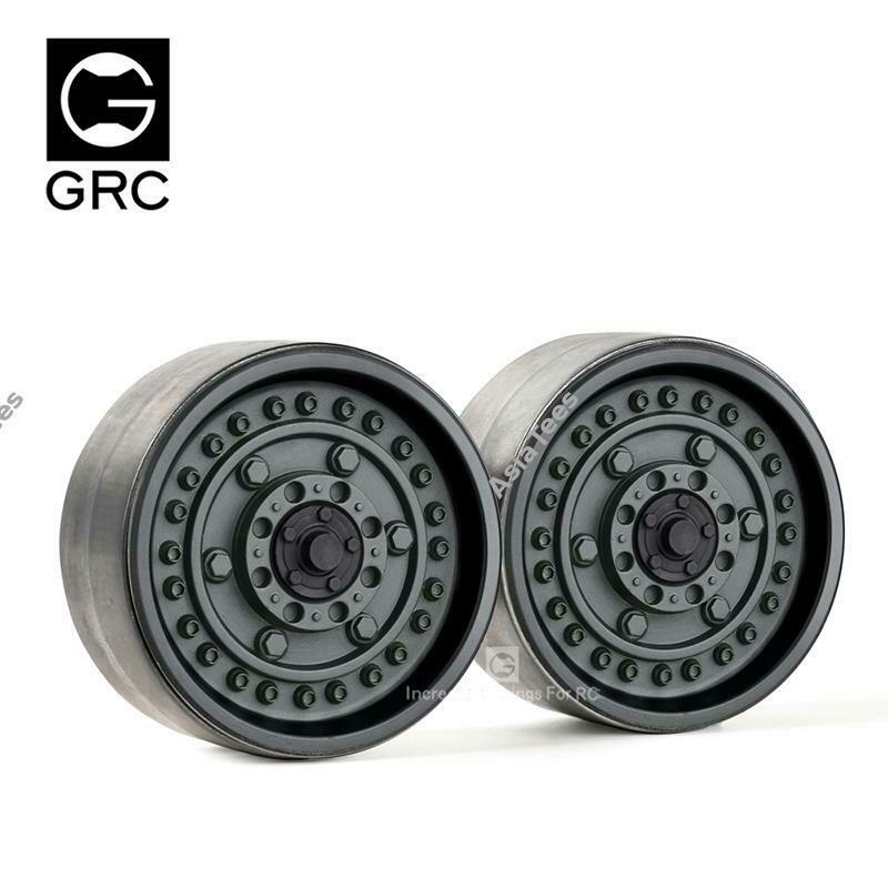 GRC 1.9 Metal Beadlock Wheels #Series VI (2) Black GRC/GAX0130HR