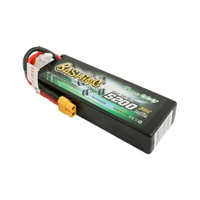 Gens ace Bashing Series 5200mAh 7.4V 2S1P 35C car Lipo Battery Pack Hardcase 24# with XT60 Plug GEA52002S35X6