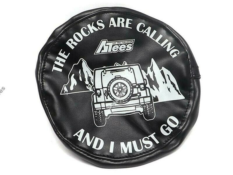 ATees Soft Faux Leather Tire Cover For 1.9 Crawler Tires - The Rocks Are Calling BRSCAC083C