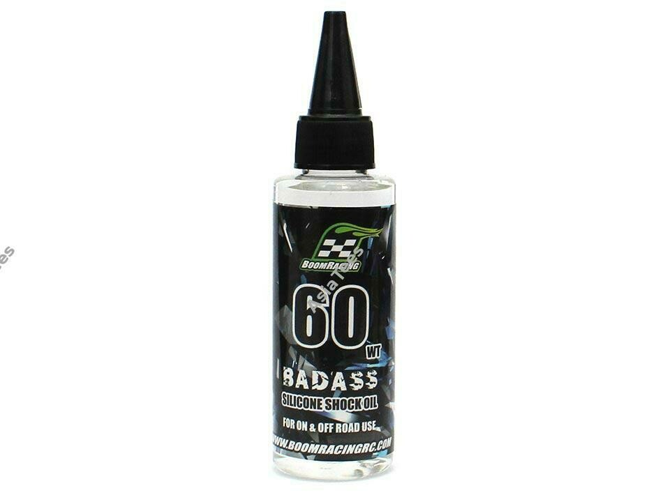 Boom Racing BADASS Silicone Shock Oil 60wt 60ml BRSHK060