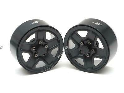 "Boom Racing 1.9"" S200 Steelie Reversible Beadlock Wheels w/ XT504 Hub (2) Black BRW780933BK"