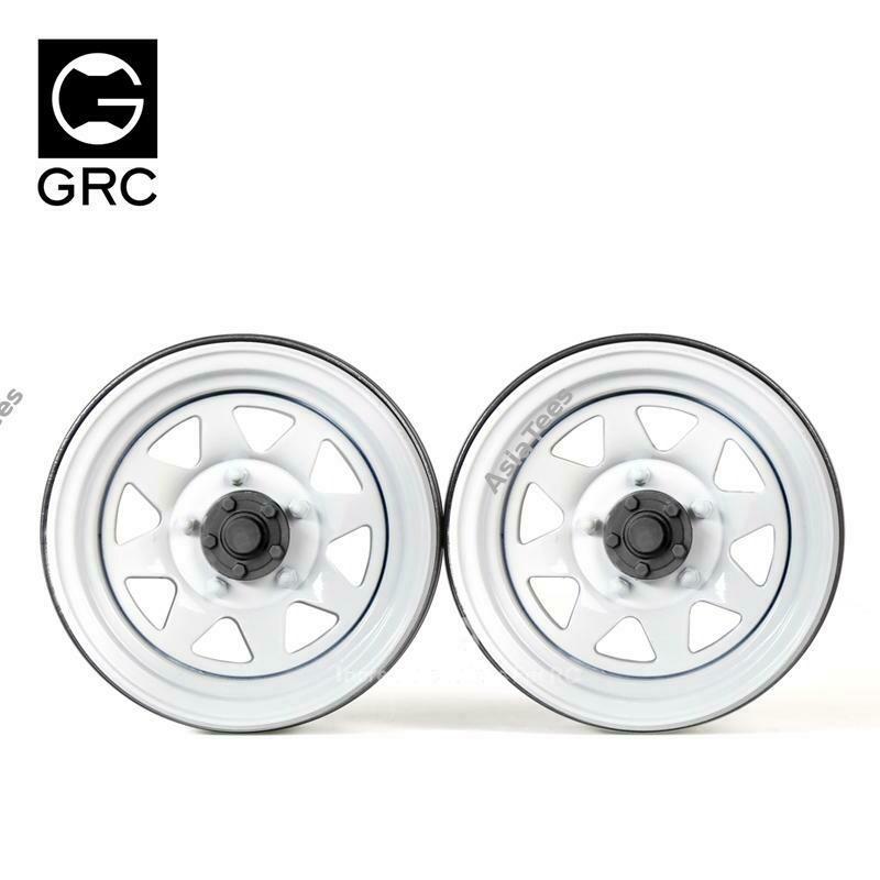 GRC 1.9 Metal Classic Wheel #Series IV White (2) GRC/GAX0130GW