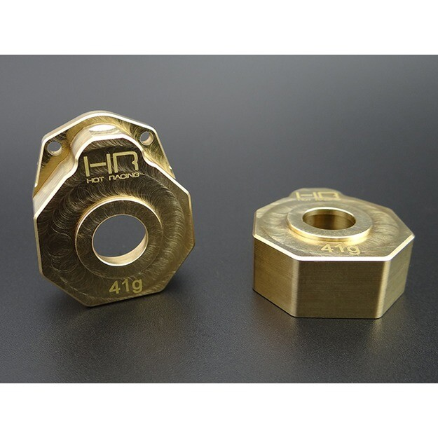 Hot Racing Knuckle Portal Cover, Brass, Heavy Metal, for TRX4 HRATRXF21HC