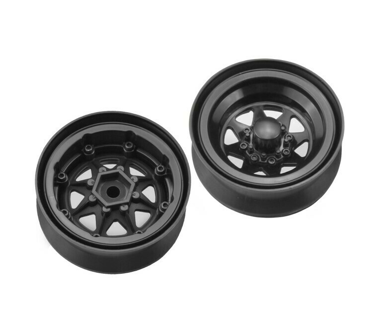 "Jconcepts Colt 1.9"" Beadlock Wheel w/ Cap, Black (2pcs)"