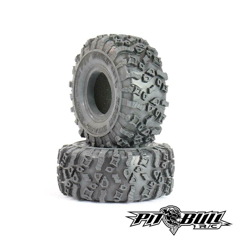 "Pitbull Tires Rock Beast XOR 1.55"" Crawler Tires, Alien Kompound, with Foams, (2) PBTPB9020AK"