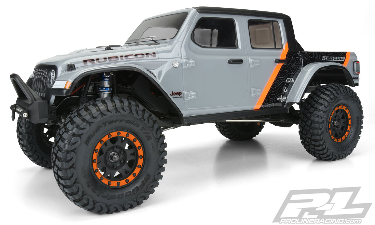 """Proline 2020 Jeep Gladiator Clear Body, for 12.3"""" Wheelbase Scale Crawlers PRO/3535-00"""