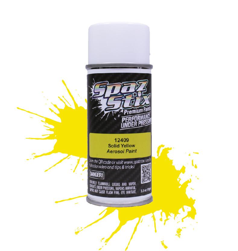 Spaz Stix Solid Yellow Aerosol Paint, 3.5oz Can SZX12409