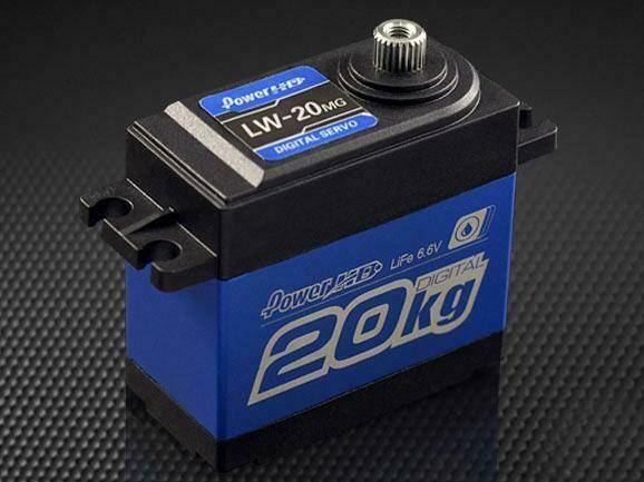 Power HD Waterproof Digital Servo 20Kg/0.16 Sec @6.0V for 1/10 Crawler & Buggy