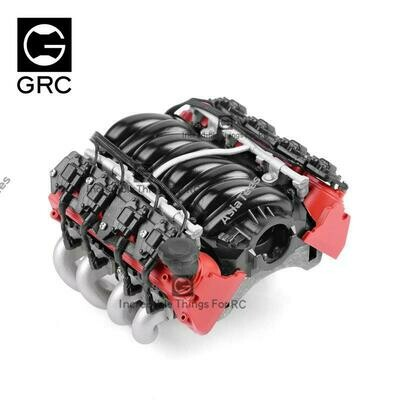GRC LS7 Simulated V8 Engine/ Motor Heat Sink Cooling Fan For Crawler 36mm Motor Red GRC/G153R