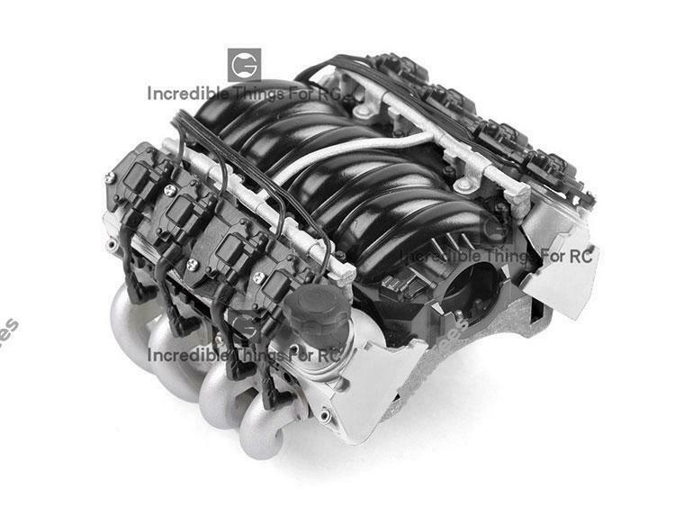 GRC LS7 Simulated V8 Engine/ Motor Heat Sink Cooling Fan For Crawler 36mm Motor Silver GRC/G153S