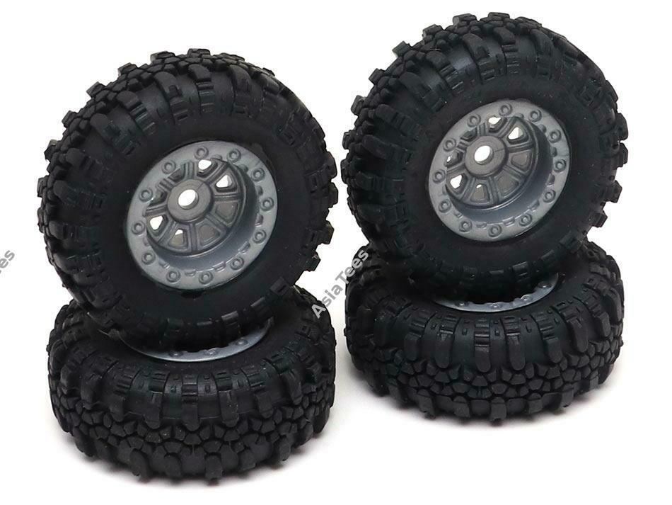 RGT Swamper Tire & Wheel Set ( Metal Gun ) for ECX Barrage/ FTX Outback/ RGT Adventurer for 1/24 ADVENTURER 13610