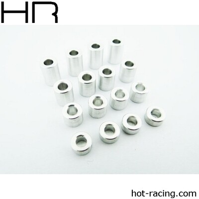 Hot Racing M3 3 -9mm Aluminum Standoff Spacer (16) HRASPC3007