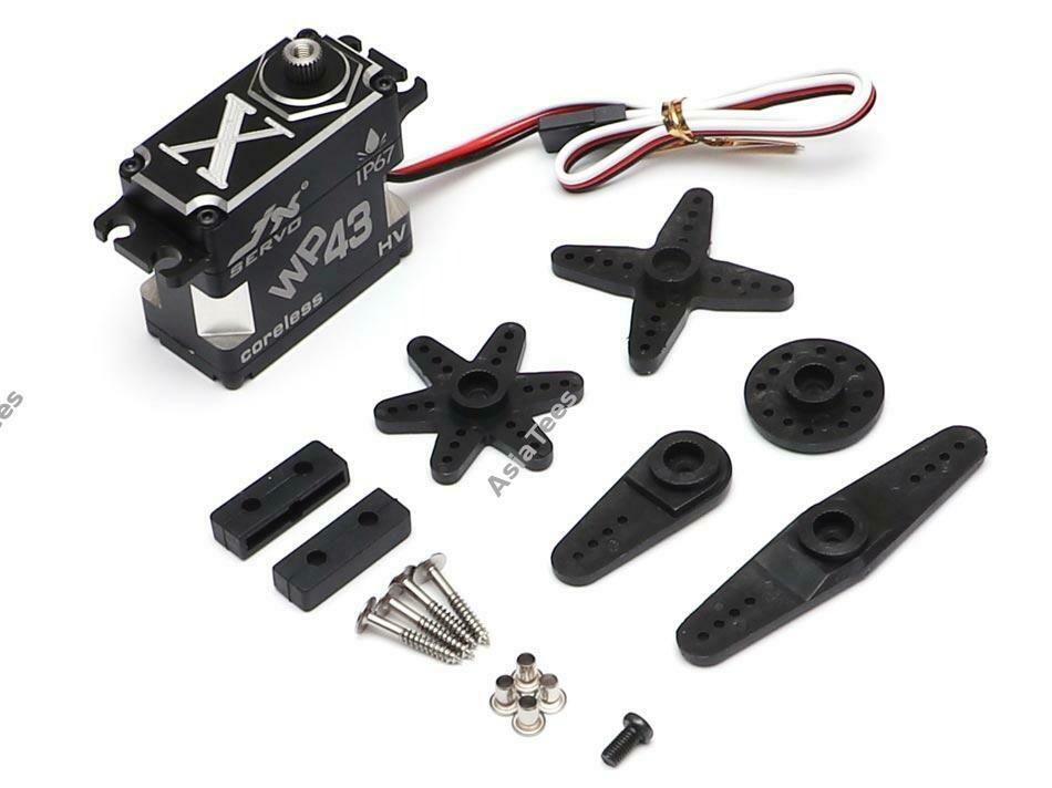 JX Servo 43KG Waterproof Aluminum Case Coreless Metal Gear Digital Servo 0.11S 43kg @8.4V WP43