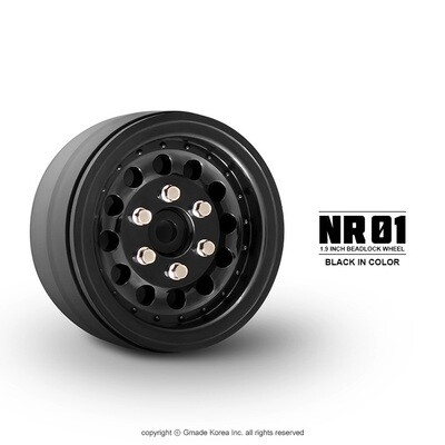 Gmade 1.9 NR01 Beadlock Wheels (Black) (2) GMA70224