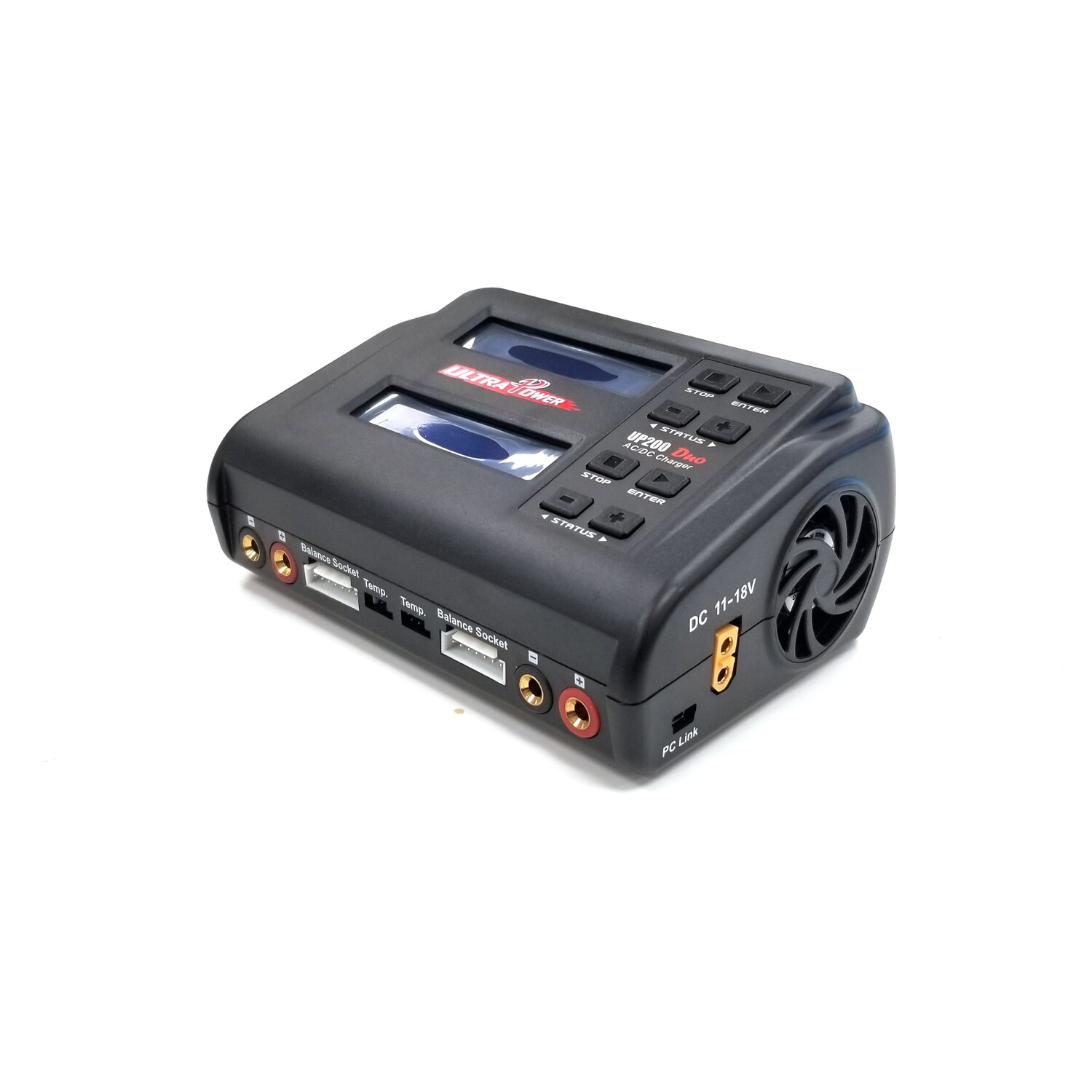 Ultra Power UP200 DUO 200W Dual Port Multi-Chemistry AC/DC Charger UPTUP200DUO