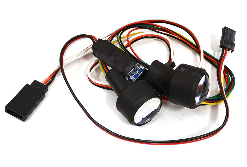 Integy Dual Color 4 LED Front Headlight for 1/10 Scale Crawler (5 Modes-Ch3 Control) C29065
