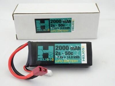 Helios 2S 2000 mAh 50c Lipo (Deans)