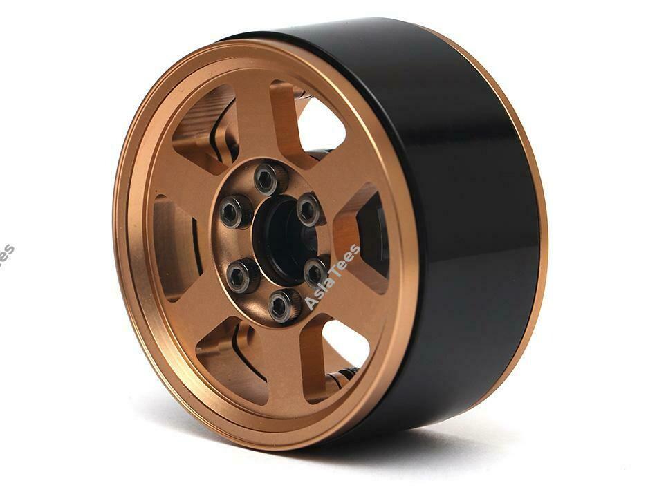 Boom Racing TE37X KRAIT™ 1.9 Aluminum Beadlock Wheels w/ XT606 Hubs (4) Bronze BRW780912BZ