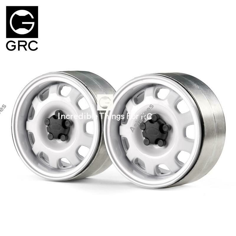 GRC 1.9 Metal Beadlock Wheel G10 (2) White GRC/G0130K