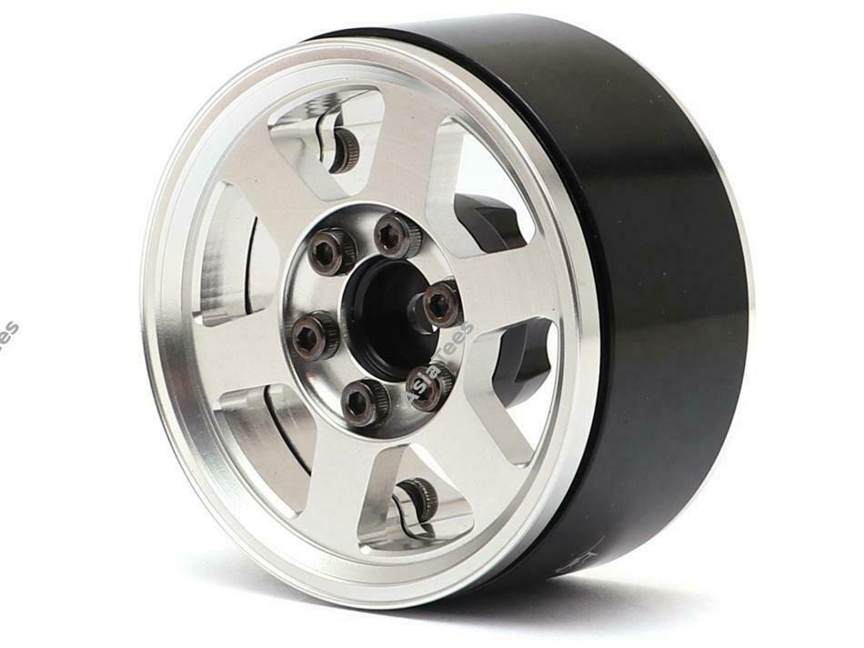 Boom Racing TE37X KRAIT™ 1.9 Aluminum Beadlock Wheels w/ XT606 Hubs (4) Silver BRW780912S