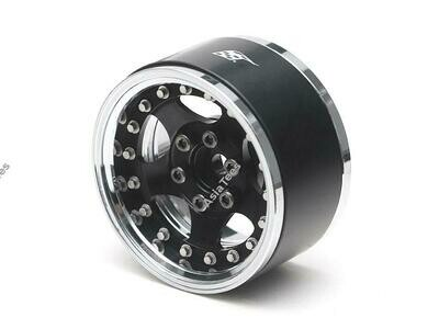 "Boom Racing ProBuild 1.9"" SV5 Adjustable Offset Aluminum Beadlock Wheels (2) Chrome/Black BRPB003CRBK"