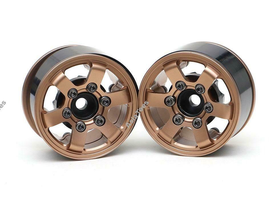 Boom Racing TE37LG KRAIT™ 1.55 Aluminum Beadlock Wheels w/ XT606 Hubs (2) Bronze BRW780931BZ