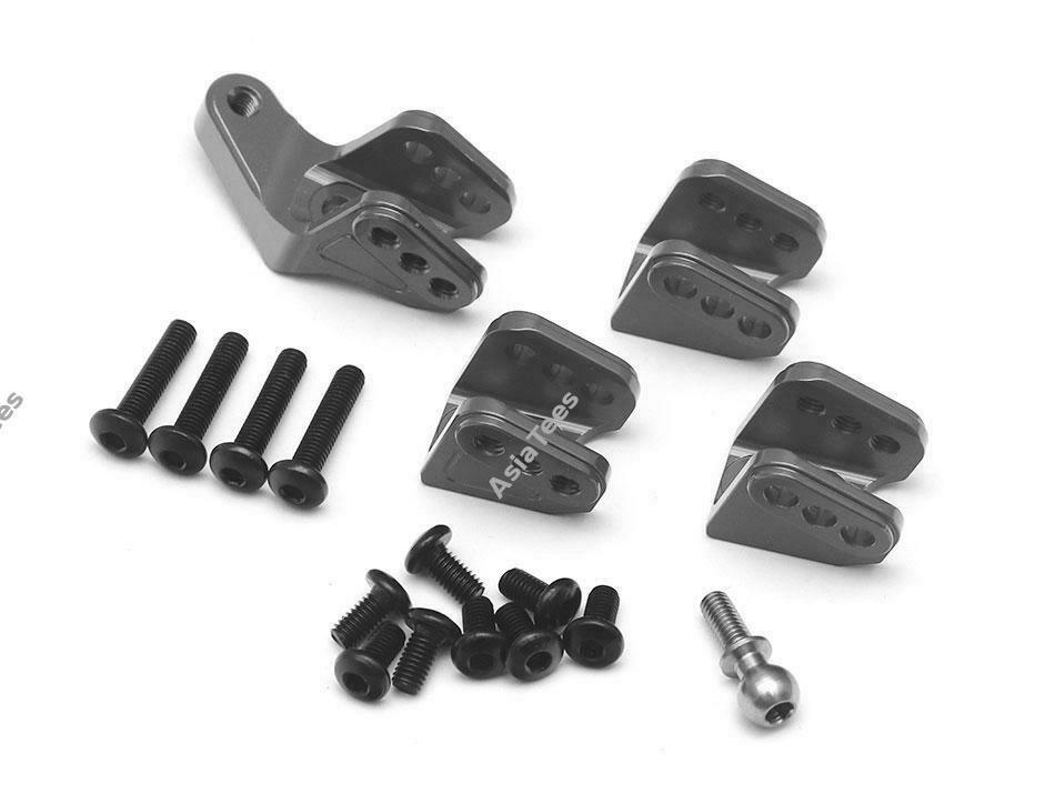 Team Raffee Co. Aluminum Link Mounts Set Gun Metal for Redcat Gen8 Scout II TRC/1053011GM