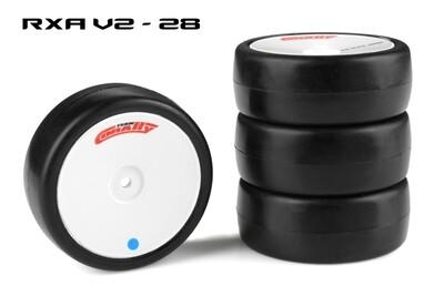 Team Corally Attack RXA V2 Rubber Tires, for 1/10 EP Touring, 28 Shore, Asphalt (4pcs)