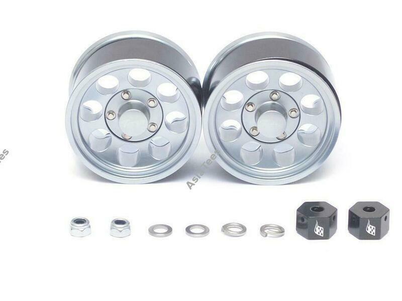 Boom Racing 1.55 Terra Classic 8-Hole Aluminum Beadlock Wheels w/ 3mm Wideners (2) Gun Metal BRW780906GM