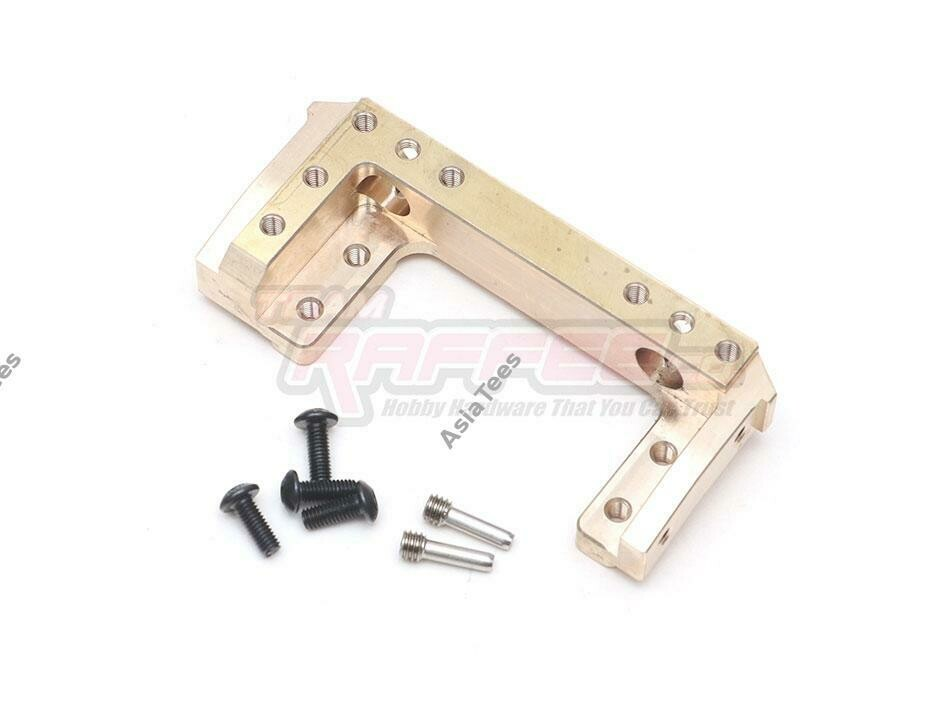 Team Raffee Co. Heavy Duty Brass Front-mounted Servo & Bumper Mount 95g each for SCX10 II TRC/302627
