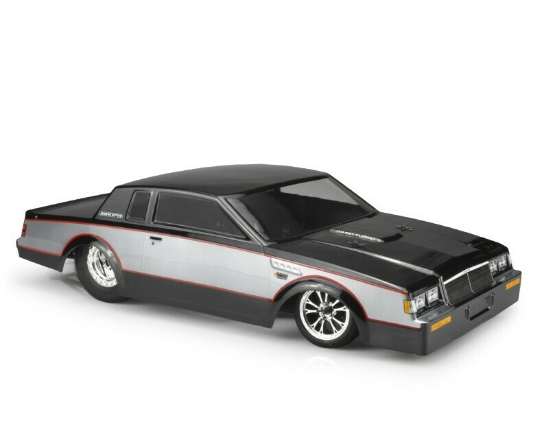 J Concepts 1987 Buick Grand National, 1/10 Street Eliminator Clear Body