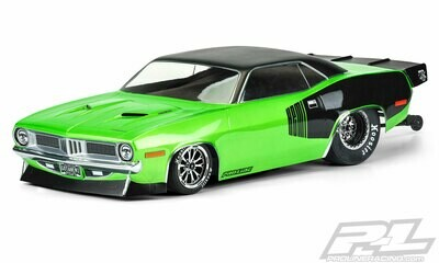 Proline 1972 Plymouth Barracuda Clear Body for Slash 2wd Drag Car & AE DR10 3550-00