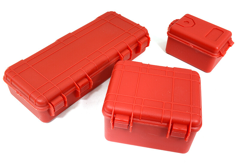 Integy Realistic Luggage Carrying Hard Case 3-Piece Set for 1/10 RC Scale Crawler C29067RED